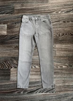 Серые плотные хлопковые с трикотажем стрейчевые джинсы брюки штаны скинны от white label