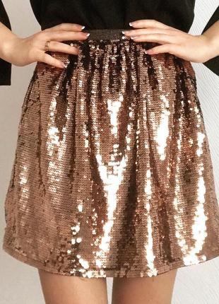 Нарядная юбка в пайетки