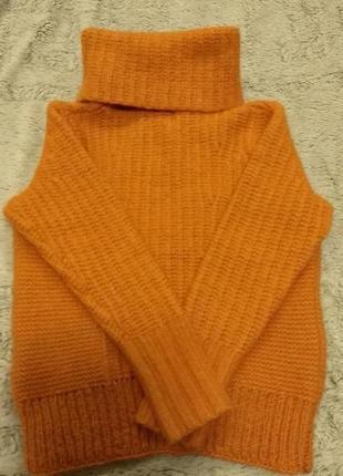 Теплый очень свитер, шерсть мерино и альпака