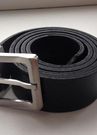 Ремень кожаный, комбинированный, двухсторонний с реверсивной универсальной пряжкой