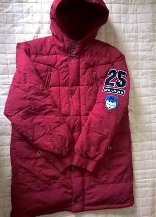 Удлиненная мужская куртка-пуховик oliver xl