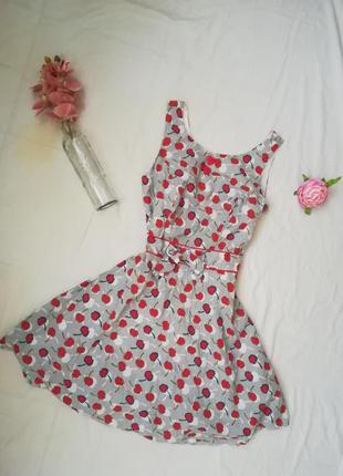 Обалденное платье в вишенку)1