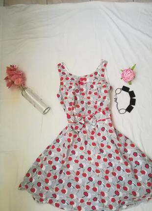 Обалденное платье в вишенку)2