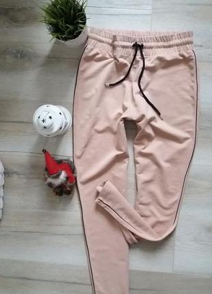 Штаны , брюки высокая посадка с лампасами1