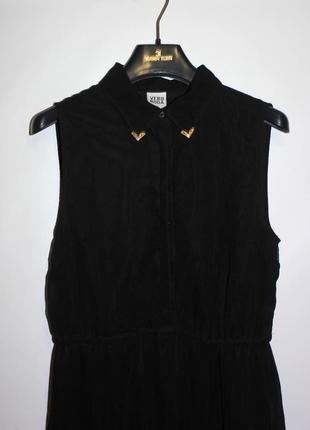 Платье с воротником + металические уголки! шифоновое2 фото