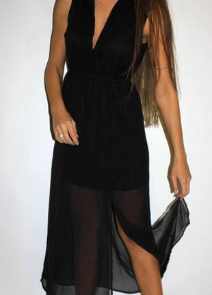 Платье с воротником + металические уголки! шифоновое1 фото