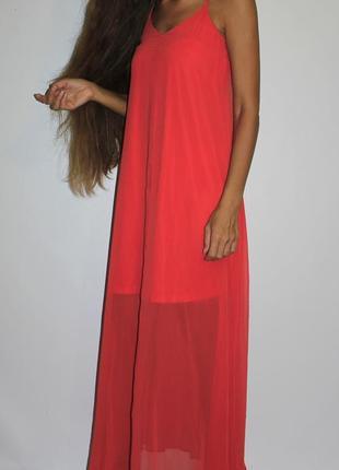Шифоновое платье , спинка крест на крест1 фото