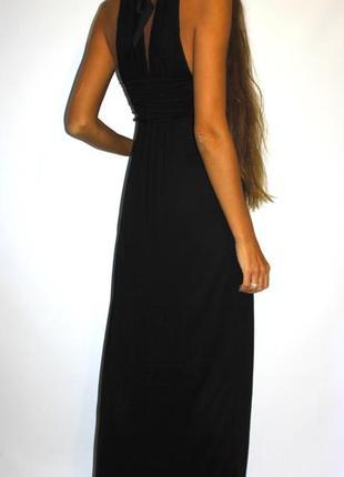 Черное платье с бисером на груди -- красивая спинка!2