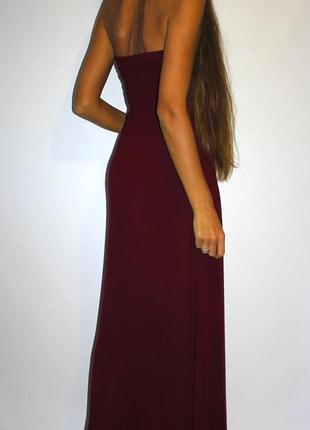 Платье в пол - цвет бордовый! - вискоза2