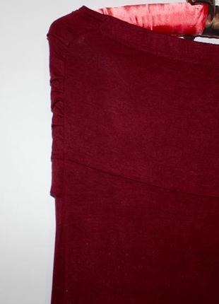 Платье в пол - цвет бордовый! - вискоза3