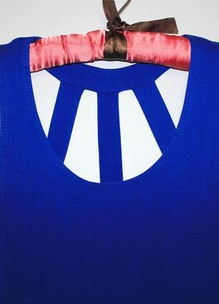 Синее платье с красивой спинкой ---- см доп фото !5 фото