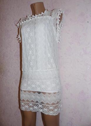 Платье кружевное2 фото