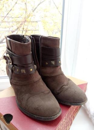 Демисезонные осенние весенние ботинки полусапожки в ковбойском стиле centro2