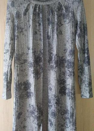 Свободное вязаное платье с накидкой (m,l,xl,xxl/4 расцветки)5 фото