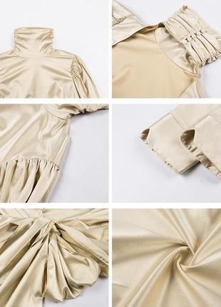 Шикарная блуза из шёлка с открытой спиной