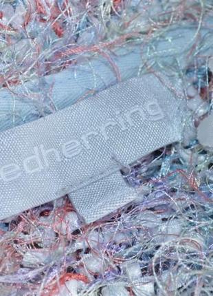 """Брендовая разноцветная теплая кофта свитер букле """"травка"""" redherring3"""