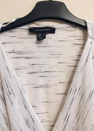 Трикотажная блуза / кофточка на запах меланж2 фото