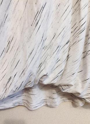 Трикотажная блуза / кофточка на запах меланж3