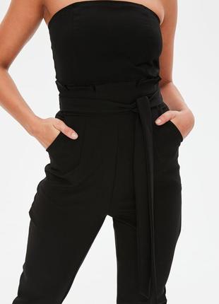 Missguided сексуальний бандажний чорний комбінезон3 фото