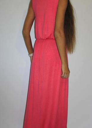 Розовое платье в пол - вискоза - пог 49см2 фото