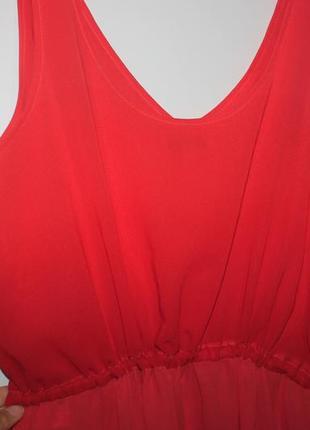 Платье с градиентом, плотный шифон! есть подкладка (пог 53см)4 фото