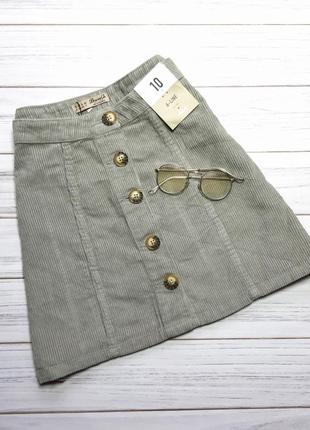 Новая вельветовая юбка denimco1