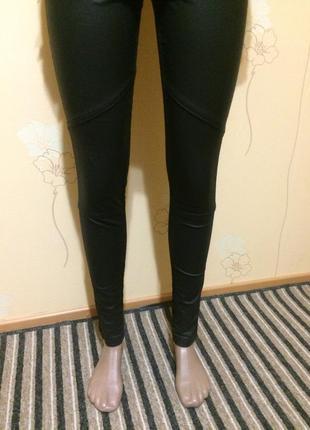 Штаны кожа +джинс4