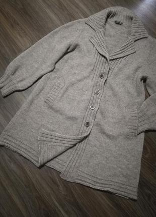 Шикарный теплый кардиган-пальто кофта люкс качество италия линия max mara1 фото