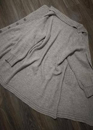 Шикарный теплый кардиган-пальто кофта люкс качество италия линия max mara2 фото