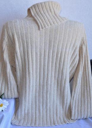 Брендовая теплая кофта свитер с горловиной в косичку papaya акрил2