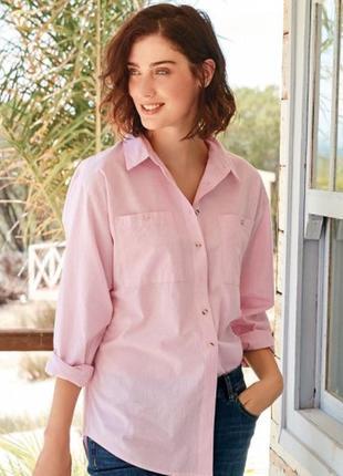 Красивая розовая  свободная рубашка на м и л1