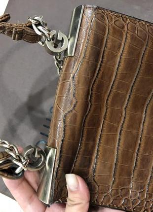 Красивая сумочка с тиснением под крокодила4