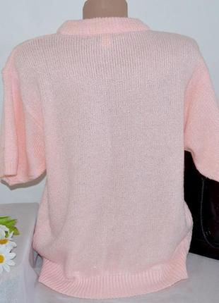 Брендовая розовая теплая кофта свитер в косичку abel индонезия акрил2