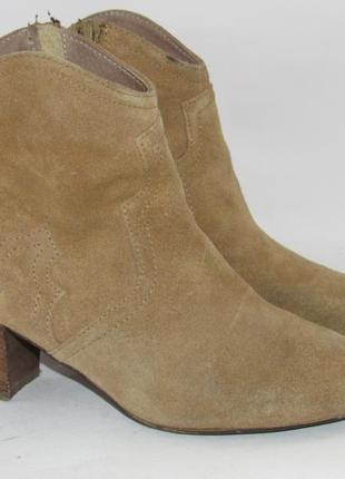 Замшевые женские ботинки-португалия 38р ст.24см m292