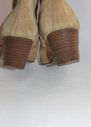 Замшевые женские ботинки-португалия 38р ст.24см m293