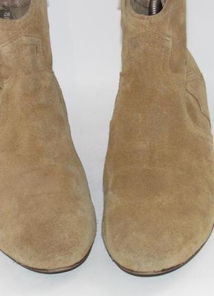 Замшевые женские ботинки-португалия 38р ст.24см m294