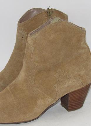Замшевые женские ботинки-португалия 38р ст.24см m291