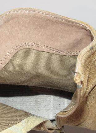 Замшевые женские ботинки-португалия 38р ст.24см m295