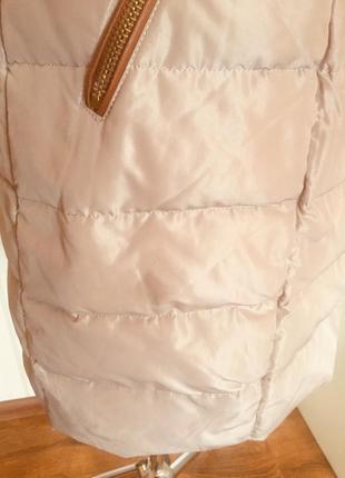 Качественное пальто-пуховик с натуральным мехом, размер 46-48.2