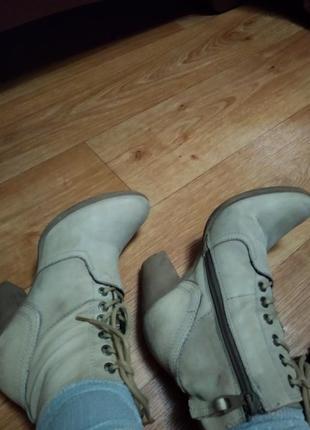 Кожаные фирменные ботинки  martina buraro2 фото