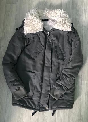 Зимняя парка хаки, куртка