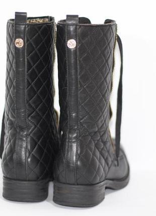 Высокие кожаные ботинки4