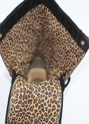 Высокие кожаные ботинки5