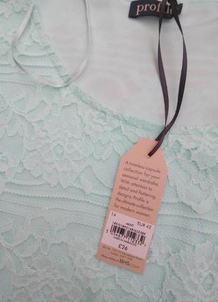 Новая ажурная блуза-футболка р.46+-4 фото