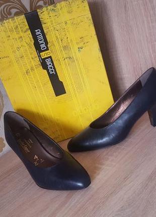 Актуальные изысканные кожанные туфли-лодочки1 фото