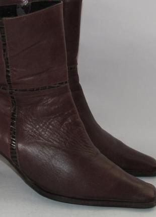 Jurek германия женские кожаные ботинки 38р ст.24,5см m295