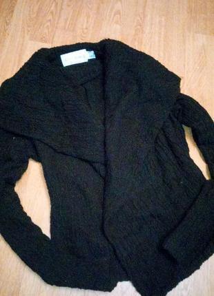 Черный жатый пиджак фирменный1