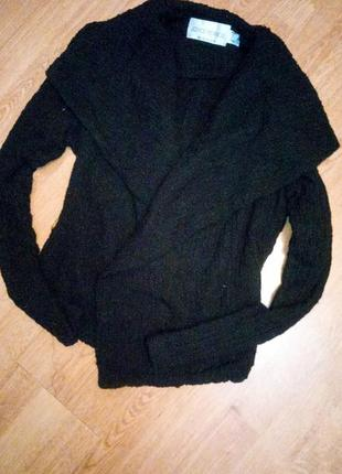 Черный жатый пиджак фирменный2