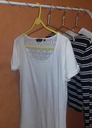 Необычная белая футболка1 фото