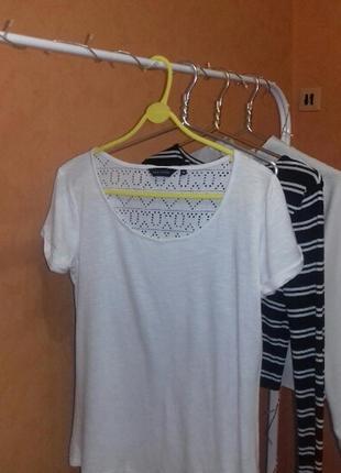 Необычная белая футболка5 фото